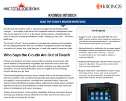 A screenshot of HRC Total Solutions pdf for the Kronos Intouch.
