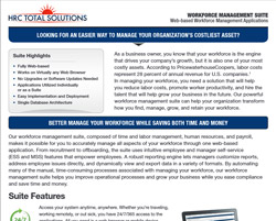 A screenshot of HRC Total Solutions pdf for web-based workforce management applications.
